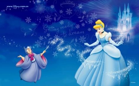 Disney's Cinderella and Fairy Godmother. Image belongs to Disney.