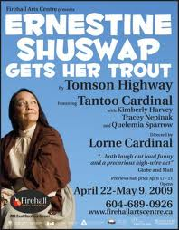 ernestine shuswap gets her trout poster