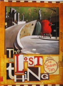 "Debra Dudek compares the cover of Tan's picture book with Jeffrey Smart's ""Cahill Expressway"""