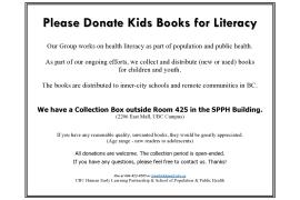 PSA: Donate Kids Books for Literacy