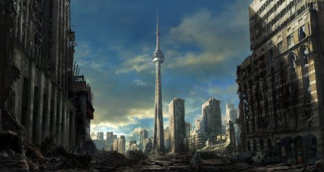 Post Apocalyptic Toronto! So much better than another shot of the Statue of Liberty ;)