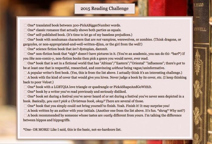 2015 Book Challenge