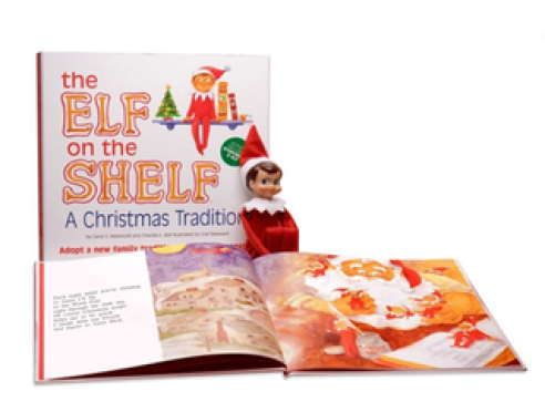 The Elf on the Shelf package.