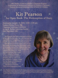 Kit Pearson on the Redemption of Story: a Colloquium