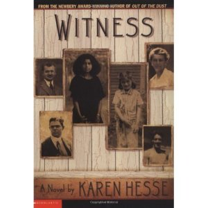 Life goes on: characters and (non)resolution in Witness by Karen Hess