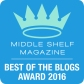 Middle Shelf Best Blogs Badge 2016 Award