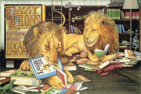 Lazy-Lions-Lounging